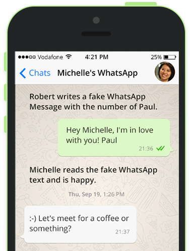 Fake WhatsApp Chat Messages & Numbers | Hack WhatsApp Generator